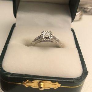 10k White Gold Diamond Ring 💍 💎  Wedding, Engagement, Promise